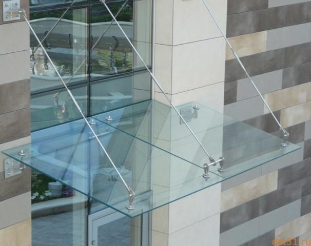 Козырёк из стекла 5